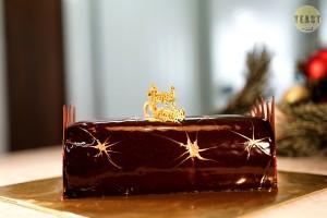 Christmas Special Order - ' Buche de Noel au Chocolat Praline' Hazelnut Chocolate Yule Log